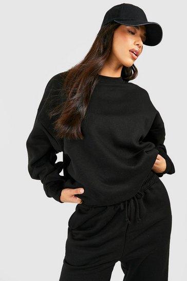 Black Tall Recycled Oversized Sweatshirt