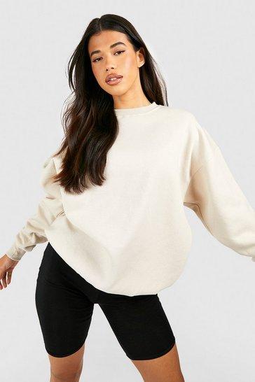 Stone beige Beige Tall Recycled Oversized Sweatshirt