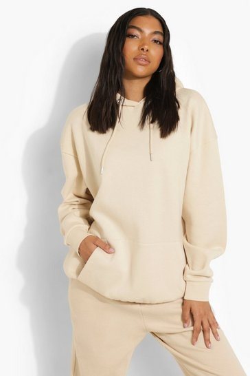Stone beige Beige Tall Recycled Oversized Hoodie