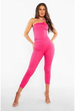 Legging style résille, Pink rose