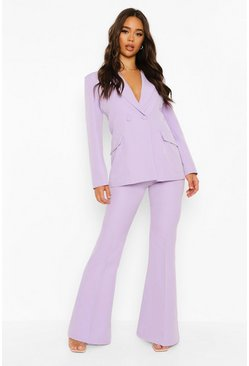 Lilac purple Fit & Flare Tailored Trousers