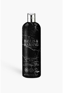 Black Baylis & Harding Body Wash - Dark Amber & Fig