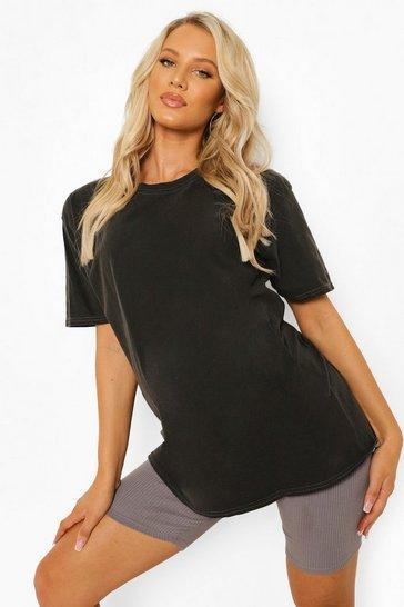 Charcoal grey Grey Maternity Oversized Washed T-Shirt