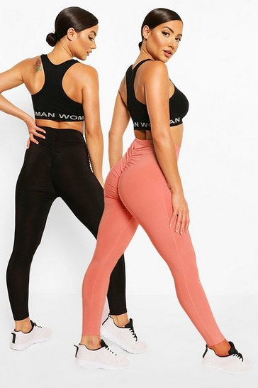 Blush pink 2 Pack Booty Boost Leggings