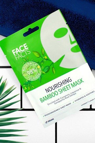 Green Face Facts 98% Natural Bamboo Sheet Mask
