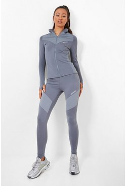 Grey Waist Shaping Active Legging