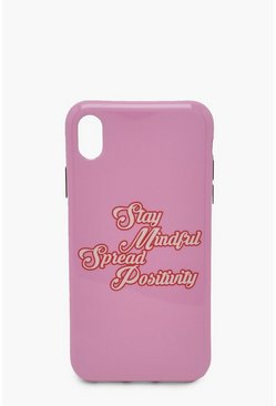 Spread Positivity Iphone Xr Case , Pink rosa