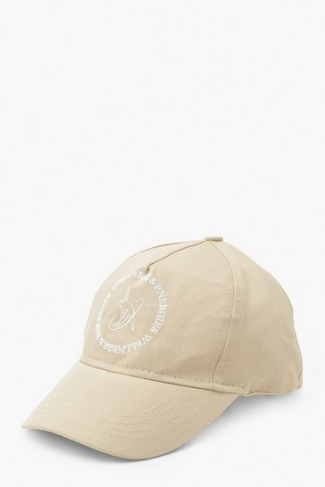 Cream white Wellness Slogan Sports Cap
