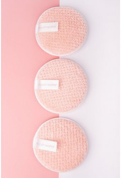 Peach orange Brushworks Hd Reusable Makeup Remover Pads