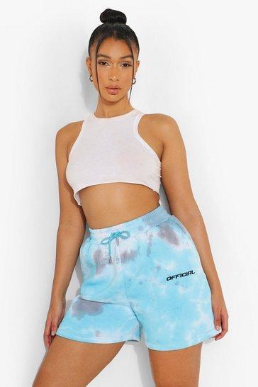 Blue Tie Dye Jersey Shorts