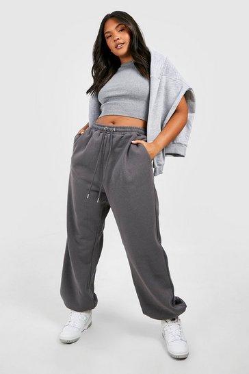 Charcoal grey Grey Recycled Plus Basic Oversized Joggers