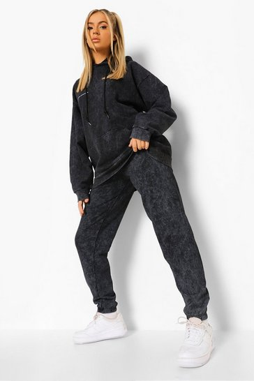 Charcoal grey Acid Wash Limited Collectiontracksuit