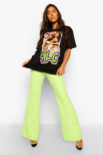 Lime green Woven Puddle Hem Tailored Trousers