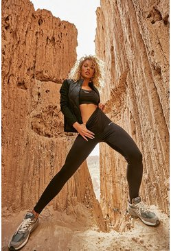 Black High Shine Body Contour Active Legging