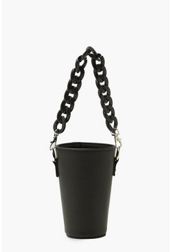Chain Handle Cup Holder, Black negro