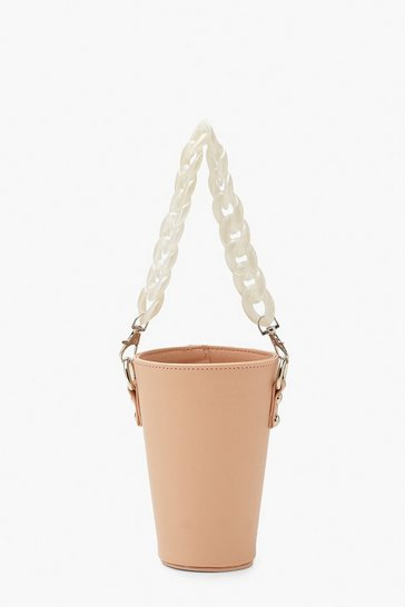 Dusky pink pink Chain Handle Cup Holder