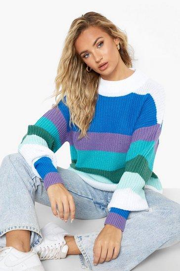 Blue Rainbow Stripe Jumper