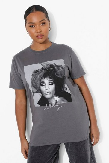 Grey Plus Whitney Licence T-shirt