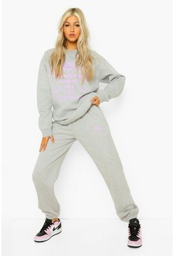 Grey marl grey Tall Grateful Sun Sweatshirt Tracksuit