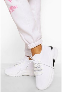Grey Lace Up Sports Trainer