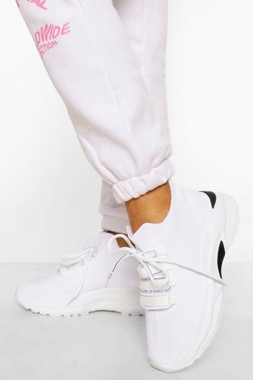 White Lace Up Sports Trainer