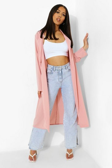 Dusky pink pink Collared Duster