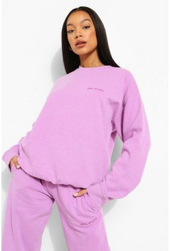 Purple lila Overdyed Ofcl Studio Sweater Tracksuit