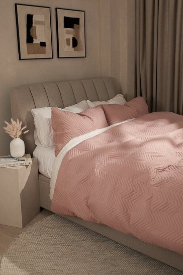 Blush pink Pinsonic King Duvet Set