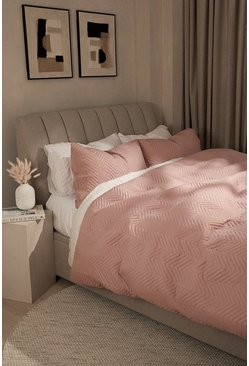 Blush pink Pinsonic Double Duvet Set