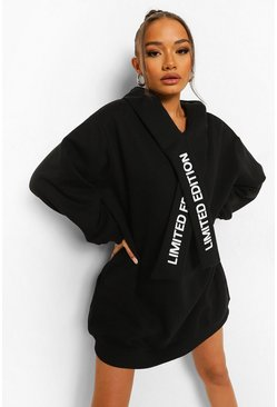 Black Limited Edition Hoodie Dress