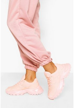 Pink Chunky Detailed Trainer
