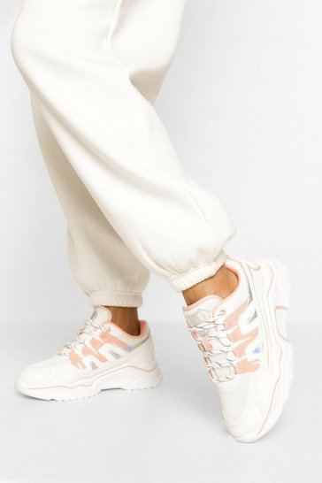 Pink Chunky Contrast Trainer