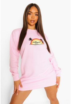 Baby pink pink Malibu California Sweat Dress