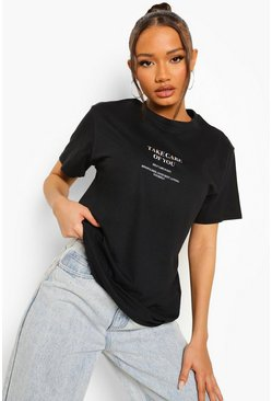 Black Take Care Oversized T Shirt