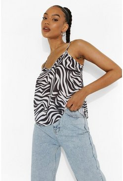 Black Tiger Print Cami