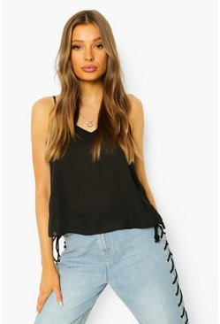 Cami Top, Black noir
