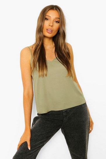 Khaki Green Cami Top