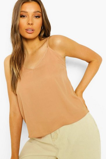 Tan brown Brown Cami Top