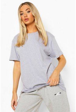 Grey marl grey Self Love Back Print Oversized T Shirt Shirt