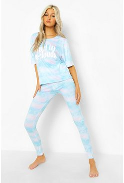 Blue Tall Cloud T-shirt & Legging Pj Set