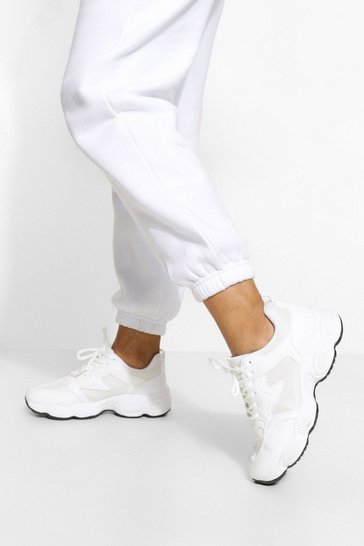 White Panelled Runner Trainer