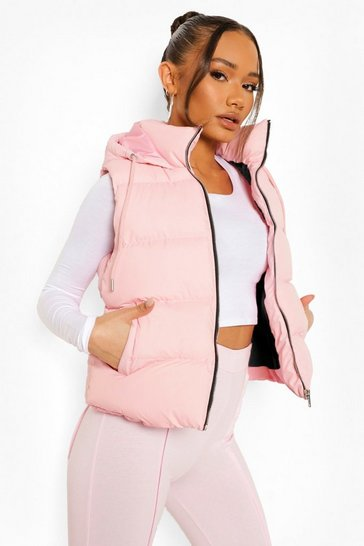 Nude Hooded Padded Gilet
