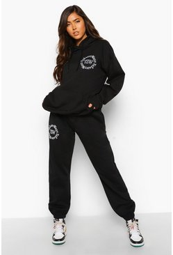 Black Ysw Logo Hooded Tracksuit