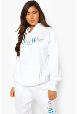 White Ye Saint West Rainbow Print Tracksuit