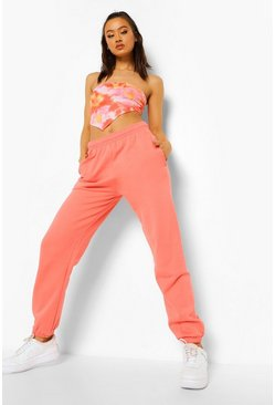 Coral pink Basic Regular Fit Joggingbroek