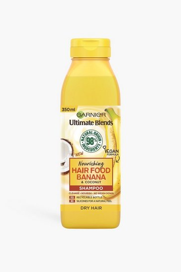 Yellow Garnier Ultimate Blends Banana Shampoo