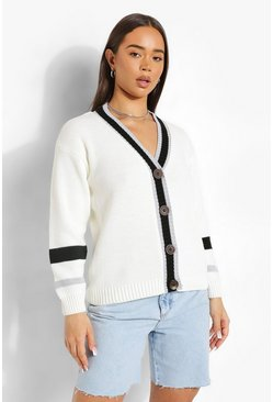 Black Colour Block Sleeve Cardigan