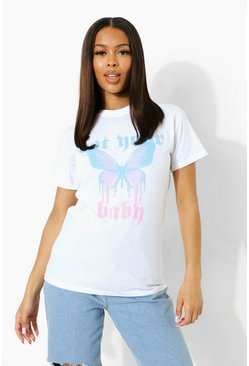 Not Your Baby Oversized T Shirt , White weiß