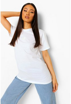 White Sun Embroidered T Shirt