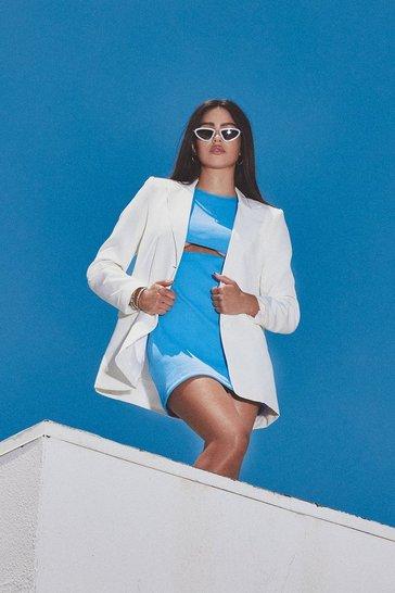 Ivory white Tailored Oversized Blazer